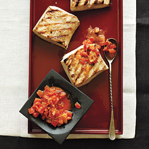 Mahimahi with Bacon-Tomato Butter Recipe