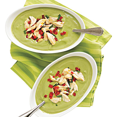 Avocado-Buttermilk Soup with Crab Salad - 100+ Healthy Soup Recipes ...