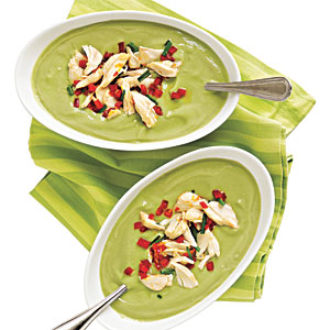 Quick and Healthy Avocado-Buttermilk Soup with Crab Salad Recipe