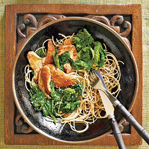 Honey-Wine Braised Chicken Thighs with Mustard Greens Recipe