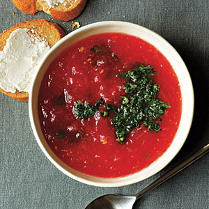 Make-Ahead Dinners: Minty Tomato Soup