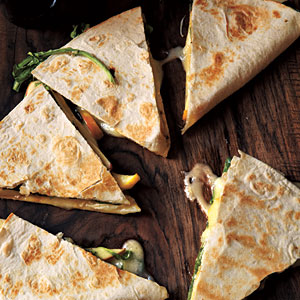 Brie, Apple, and Arugula Quesadillas Recipes