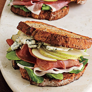 Prosciutto, Pear, and Blue Cheese Sandwiches Comfort Food Recipe