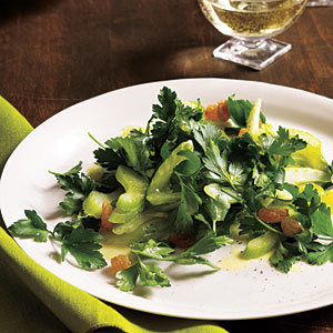 Celery and Parsley Salad with Golden Raisins Recipes