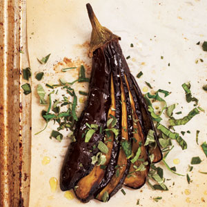 Roasted Eggplants with Herbs