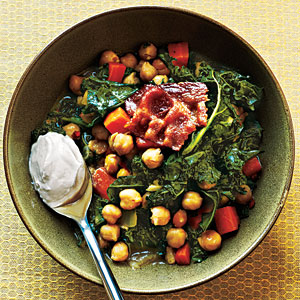 Garbanzo Beans and Greens Recipe