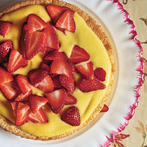 Sponge Cake with Orange Curd and Strawberries Comfort Food Recipe