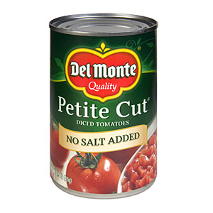 Del Monte No Salt Added Petite Diced Canned Tomatoes