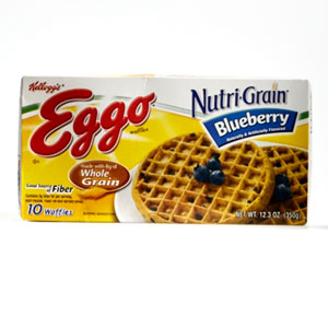 Eggo NutriGrain Blueberry Waffles