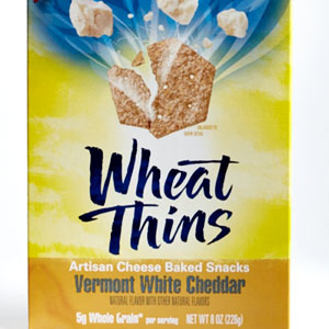 Wheat Thins Vermont White Cheddar Artisan Cheese Baked Snacks