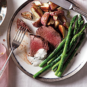 Beef Tenderloin with Horseradish-Chive Sauce Recipe