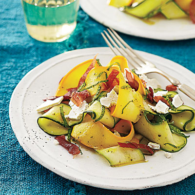 Shaved Summer Squash Salad with Prosciutto Crisps - Vegetable and ...