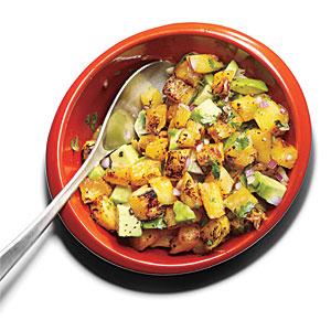 Grilled Pineapple-Avocado Salsa Recipe