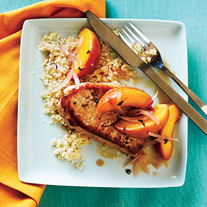 Skillet Pork Chop Sauté with Peaches Recipe