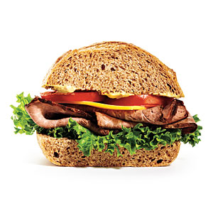 Sodium in a Roast Beef and Cheddar Sandwich