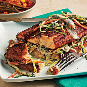 Open-Faced Blackened Catfish Sandwiches Recipe