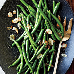 Green Beans with Toasted Garlic Recipe