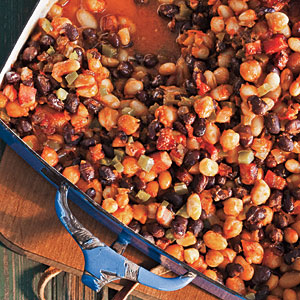 Smoky Three-Bean Bake Comfort Food Recipe