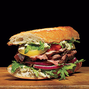 Steak Baguettes with Pesto Mayo