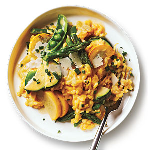 Summer Lemon-Vegetable Risotto Recipe