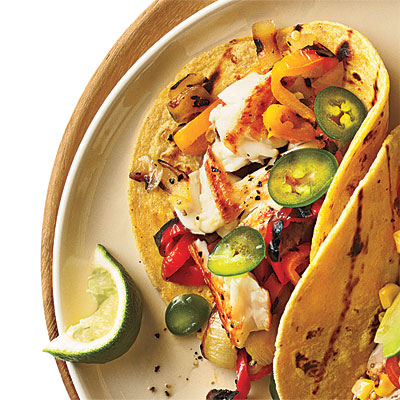 12 fish taco recipes cooking light for Fish tacos with tilapia