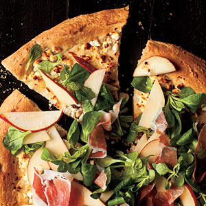 Honey-Wheat Pizza with Pear-Prosciutto Salad Recipe