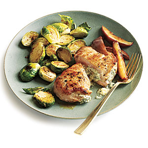 Blue Cheese-Stuffed Pork Chops with Pears Budget Cooking Recipe