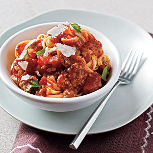 Linguine with Easy Meat Sauce Recipe