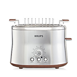 "Krups ""Silver Art"" 2 Slice Toaster and Bun Warmer"