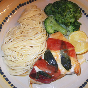 Christiane Potts's Lemony Chicken Saltimbocca