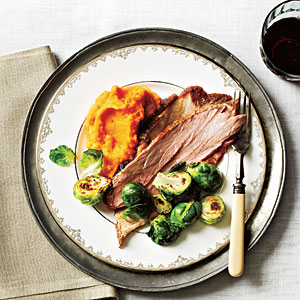 Maple-Mustard Glazed Fresh Ham Recipe