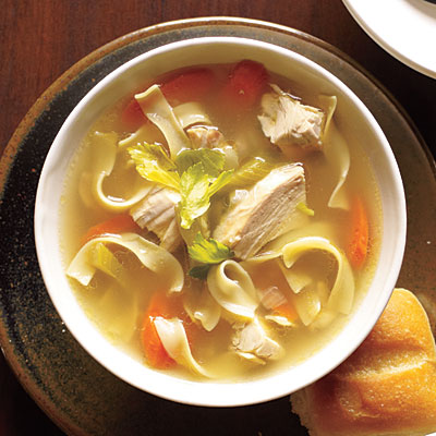 25 comforting chicken soup recipes cooking light for What vegetables to put in chicken noodle soup