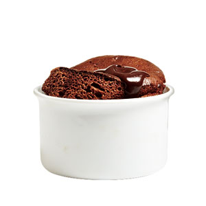 Double Chocolate Soufflés with Warm Fudge Sauce Recipe