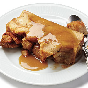 The Best Bread Pudding with Salted Caramel Sauce