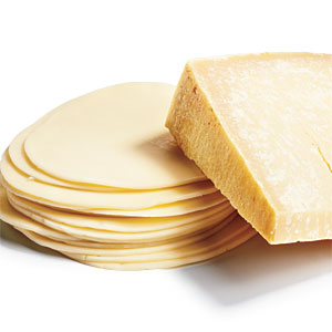 Provolone and Parmigiano-Reggiano Cheeses vs. Processed Cheese Product