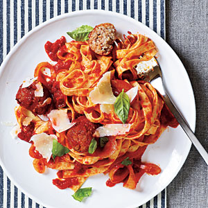 Spaghetti with Turkey Meatballs Recipe