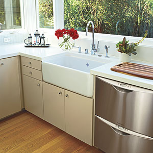 Downsized Dishwasher Kitchen Renovation