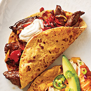 Steak and Charred Vegetable Tacos