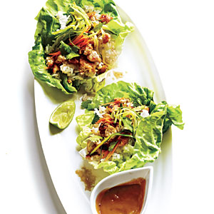 Lettuce Wraps with Hoisin-Peanut Sauce Recipe