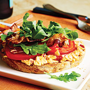Open-Faced Pimiento Cheese BLTs Recipe