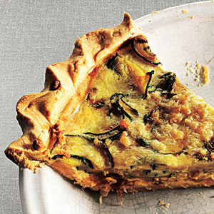 Zucchini and Caramelized Onion Quiche