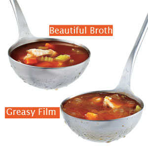 How to Skim Grease Off Soup