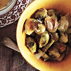 Romano-Topped Brussels Sprouts