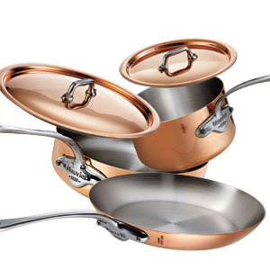 Mauviel M'150s Copper and Stainless Steel 5-Piece Cookware Set