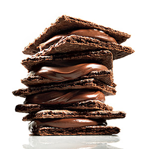 Crunchy Chocolate Hazelnut Sandwich