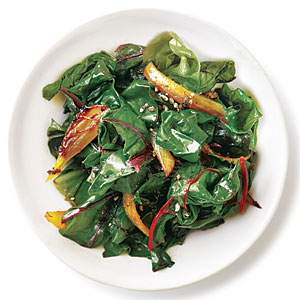 Quick Caramelized Onions Swiss Chard