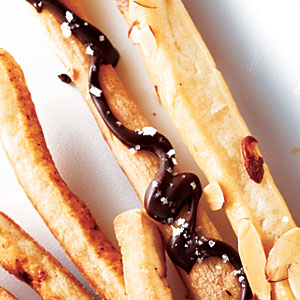 Chocolate–Sea Salt Breadsticks
