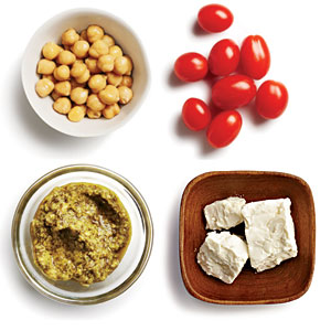 Cheesy Chickpea and Pesto