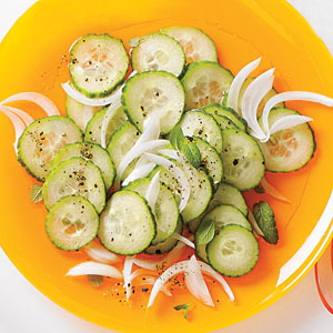 Marinated English Cucumber and Onions