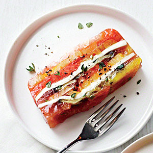 Heirloom Tomato and Eggplant Terrine